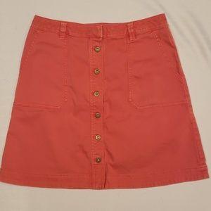 Anthropologie Buttoned Skirt